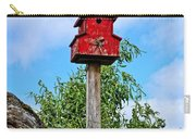 Yachats Red Birdhouse Carry-all Pouch