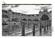 Yacht And Beach Club After The Rain In Black And White Walt Disney World Carry-all Pouch