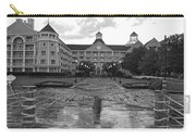 Yacht And Beach Club In Black And White Walt Disney World Carry-all Pouch