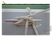 Yacht Secured To A Jetty  Carry-all Pouch