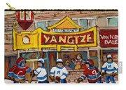 Yangtze Restaurant With Van Horne Bagel And Hockey Carry-all Pouch by Carole Spandau