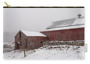 Yankee Farmlands No 19 - Winter Snow And New England Barn Carry-all Pouch