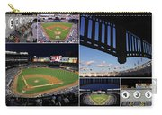 Yankee Stadium Collage Carry-all Pouch by Allen Beatty