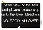 Yankee Stadium Lower Bleachers Sign Carry-all Pouch
