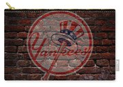 Yankees Baseball Graffiti On Brick  Carry-all Pouch by Movie Poster Prints