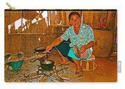 Yao Mien Tribe Man In His Home With His Cooking Pot North Of Chiang Rai In Mae Salong-thailand  Carry-all Pouch