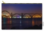 Yaquina Bay Bridge At Night Carry-all Pouch