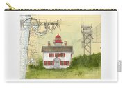 Yaquina Bay Lighthouse Or Nautical Chart Map Art Carry-all Pouch