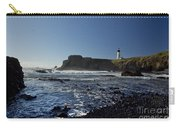 Yaquina Lighthouse And Beach No 1 Carry-all Pouch