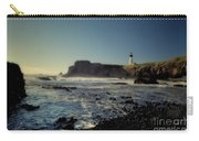 Yaquina Lighthouse And Beach No 2 Carry-all Pouch