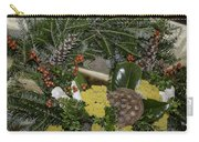 Yarrow And Lotus Wreath Squared Carry-all Pouch