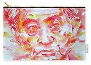 Yasunari Kawabata Watercolor Portrait Carry-all Pouch