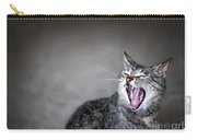 Yawning Cat Carry-all Pouch by Elena Elisseeva