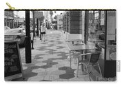 Ybor City Sidewalk - Black And White Carry-all Pouch
