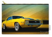 Yellow 1969 Camaro Ss Carry-all Pouch