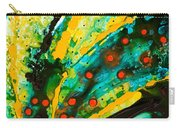 Yellow Abstract Carry-all Pouch by Sharon Cummings