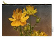 Yellow Aged Floral Carry-all Pouch
