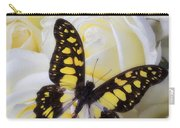 Yellow And Black Butterfly Carry-all Pouch