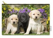 Yellow And Black Labrador Puppies Carry-all Pouch
