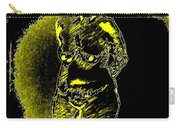 Yellow And Black Woman Carry-all Pouch