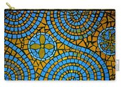 Yellow And Blue Mosaic Carry-all Pouch