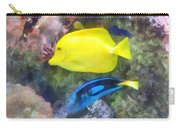 Yellow And Blue Tang Fish Carry-all Pouch