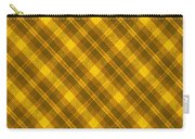 Yellow And Brown Diagonal Plaid Pattern Cloth Background Carry-all Pouch