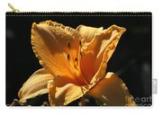 Yellow And Cream Day Lily Carry-all Pouch