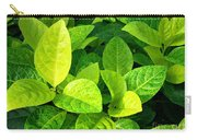 Yellow And Green Leaves Carry-all Pouch