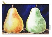 Yellow And Green Pear Carry-all Pouch