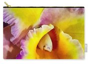 Yellow And Magenta Cattleya Orchid Carry-all Pouch