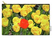 Yellow And One Red Tulip Carry-all Pouch