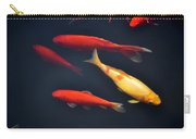 Yellow And Orange Koi Swimming Carry-all Pouch