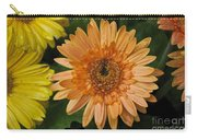 Yellow And Peach Daisy Carry-all Pouch
