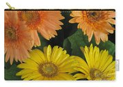 Yellow And Peach Carry-all Pouch