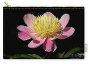 Yellow And Pink Peony Carry-all Pouch