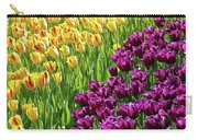 Yellow And Purple Tulips Carry-all Pouch