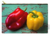 Yellow And Red Bell Pepper Carry-all Pouch
