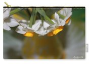 Yellow And White Carry-all Pouch