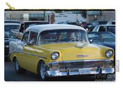 Yellow And White Classic Chevy Carry-all Pouch
