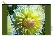 Yellow And White Dahlia Flowers Carry-all Pouch