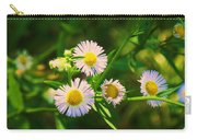 Yellow And White Dasies Carry-all Pouch