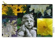 Yellow And White Flower Collage Carry-all Pouch