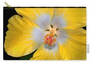 Yellow And White Hibiscus Carry-all Pouch