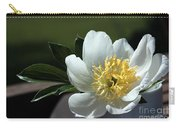 Yellow And White Peony Flower Carry-all Pouch