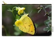 Yellow And Yellow Sulphur Butterfly Carry-all Pouch