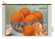 Yellow Aster Brand Oranges Vertical Carry-all Pouch
