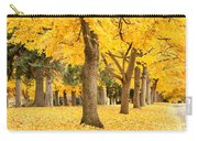 Yellow Autumn Wonderland Carry-all Pouch by Carol Groenen
