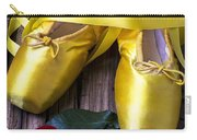 Yellow Ballet Shoes Carry-all Pouch by Garry Gay