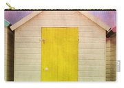 Yellow Beach Hut Carry-all Pouch